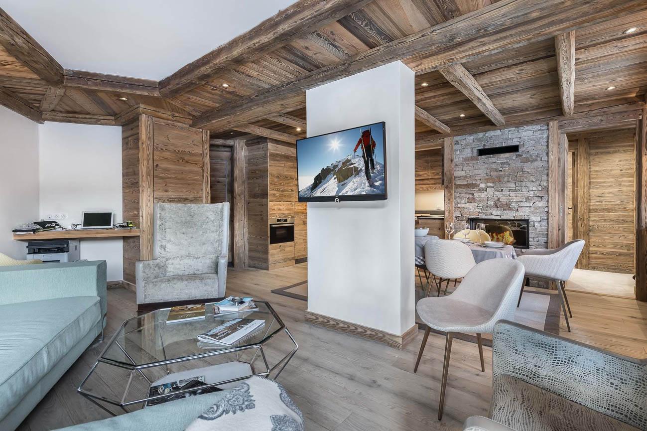 ski resort of Courchevel Alpi